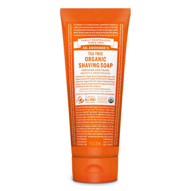 Dr. Bronner's Organic Shaving Soap - Tea Tree - 7oz