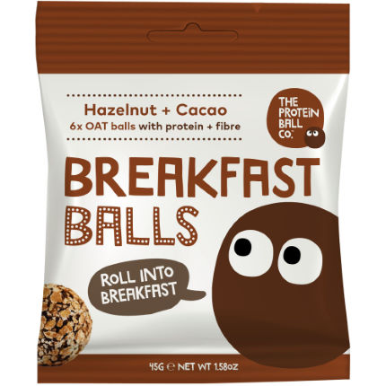 The Protein Ball Co - Hazelnut + Cacao balls VEGAN 10 sachets pack