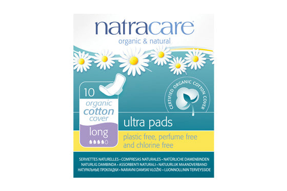 Natracare	Ultrapad w/Wings Long	12x10Pce