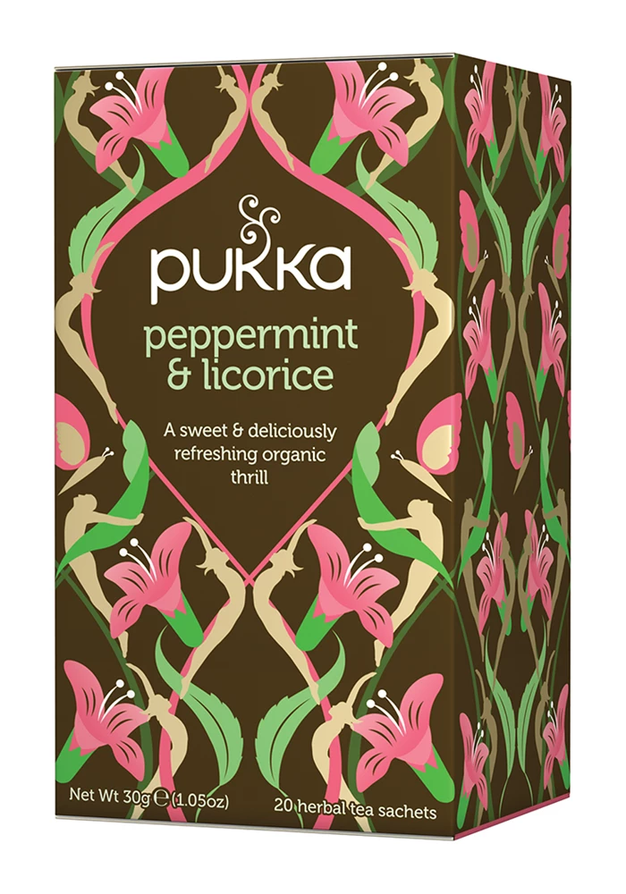 Pukka - Peppermint and Licorice Herbal Tea 4 Box Pack