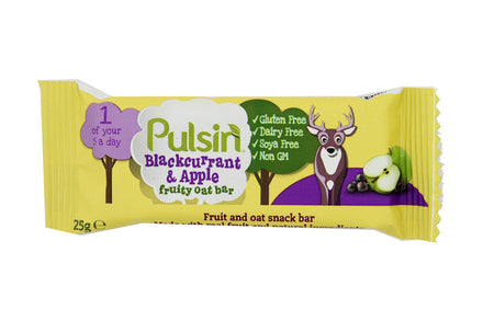 Pulsin - Blackcurrant & Apple Oat Bars 24 Pack