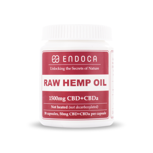 Endoca - RAW Hemp Oil Capsules 1500mg