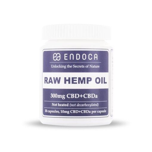 Endoca - RAW Hemp Oil Capsules 300mg
