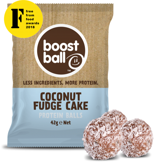 Boostball - COCONUT FUDGE CAKE PROTEIN BALLS X 12 PACKS (36 BALLS)