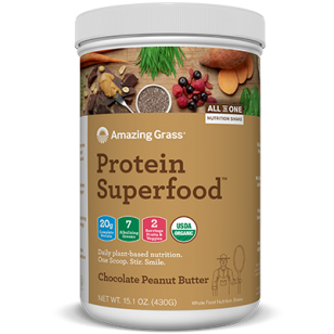AMAZING GRASS - CHOCOLATE PEANUT BUTTER protein 430g