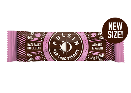 Pulsin - Almond & Raisin Raw Choc Brownie 18 pack