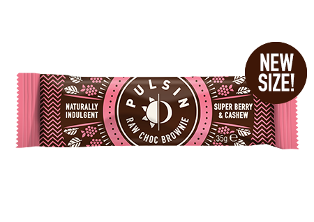 Pulsin - Super Berry & Cashew Raw Choc Brownie 18 Pack