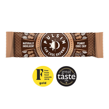Pulsin - Peanut Choc Chip Raw Brownie 18 Pack