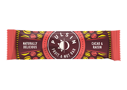 Pulsin - Cacao & Raisin Fruit & Nut Bar 18 Pack