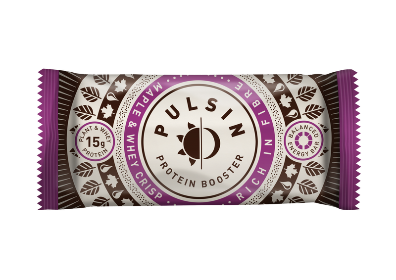 Pulsin - Maple & Whey Crisp Protein Bar 18 Pack