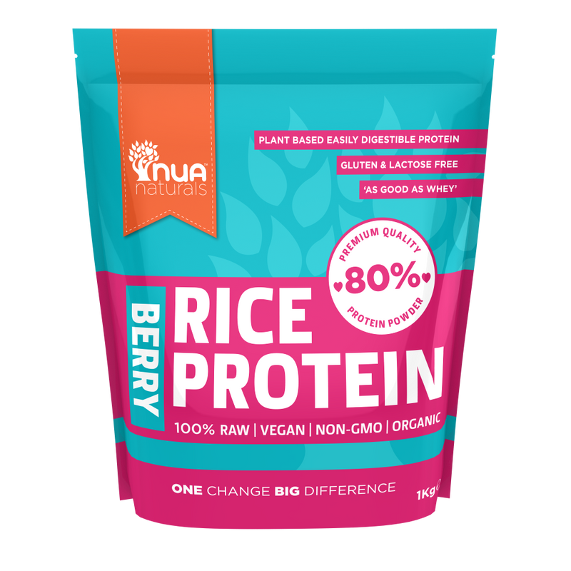 NUA Naturals - Rice Protein Powder Berry 1kg