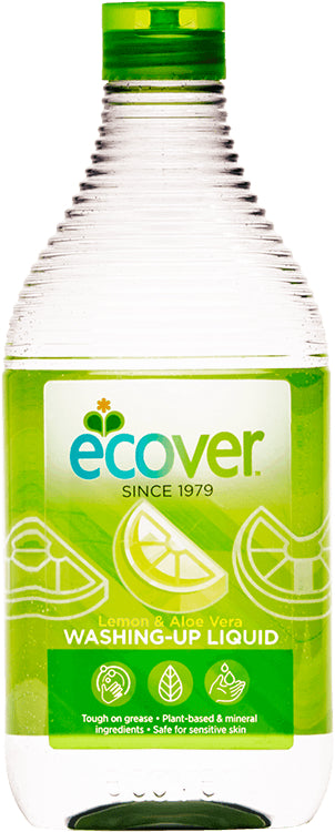 Ecover	Washing Up Liquid - Lemon & Aloe	8x450ml