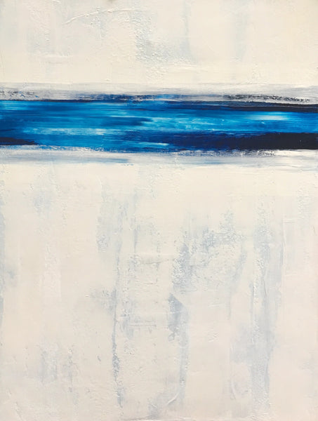 Large Blue and White Painting 48x36