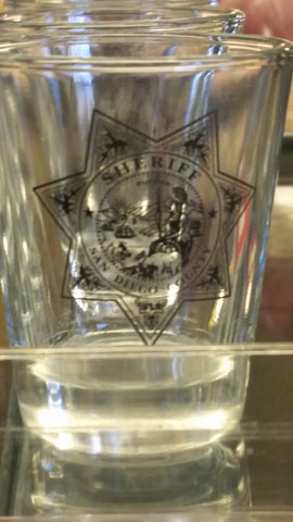 Sheriff Badge Shot Glass