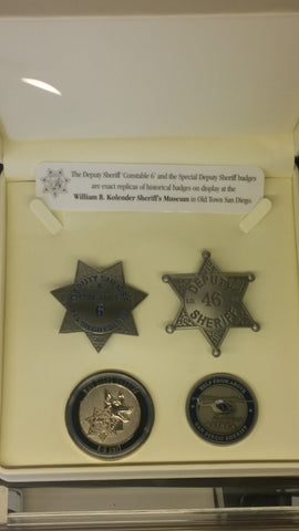 Sheriff's Badge Set (4 piece)