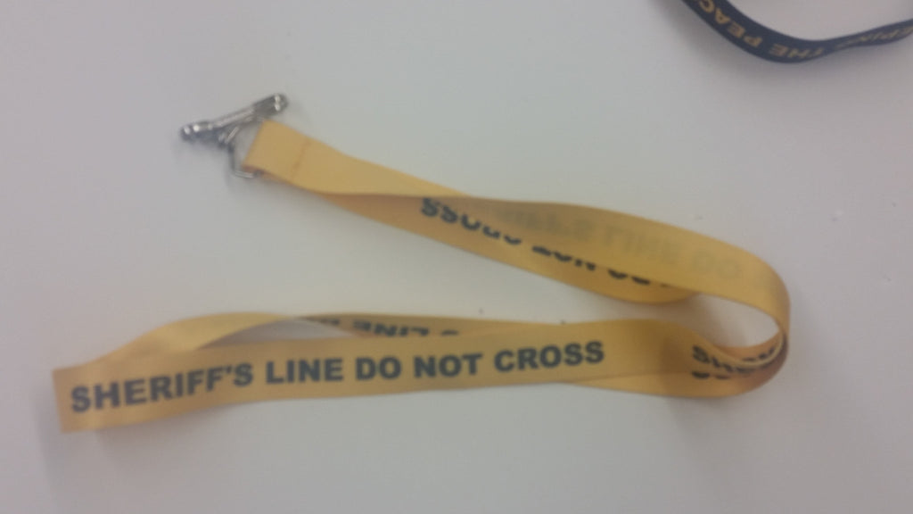 Sheriff's Caution Tape Lanyard