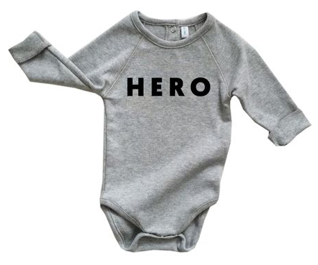 Boys organic cotton hero onesie