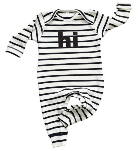 Baby organic cotton one-piece playsuit