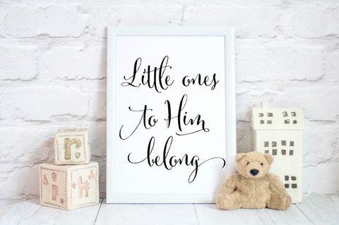Little Ones to Him Belong Print