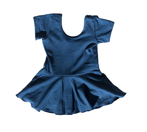 Toddler girl blue ballet dress