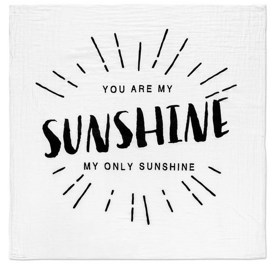 You Are My Sunshine Swaddle Blanket
