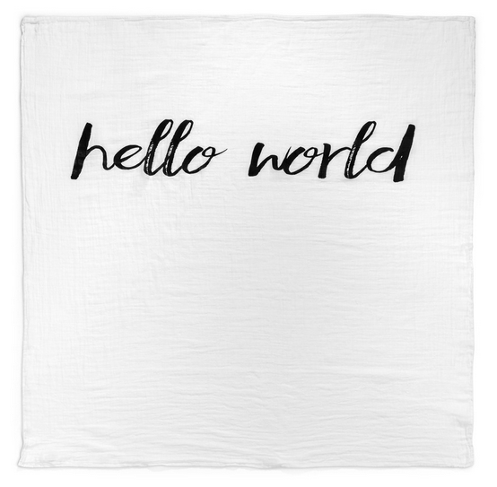 Hello World Swaddle Blanket