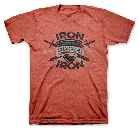 Iron Sharpens Iron Shield Premium T-Shirt