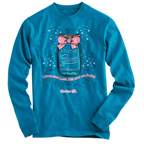 A-Mason Grace Cherished Girl Long Sleeve Christian T-Shirt