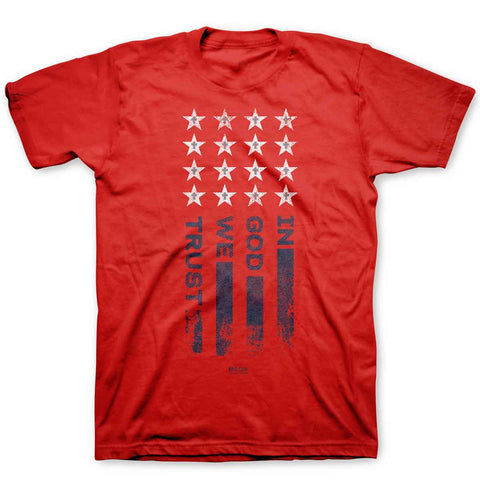 In God We Trust Flag Red T-Shirt