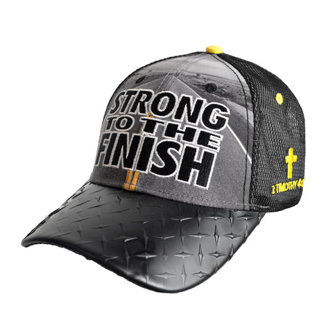 Strong To The Finish Christian Cap