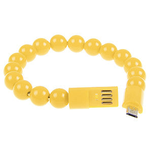 Bead Yellow Charging Bracelet