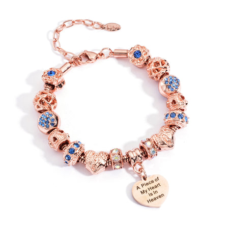 Piece of my heart bracelet in rose gold