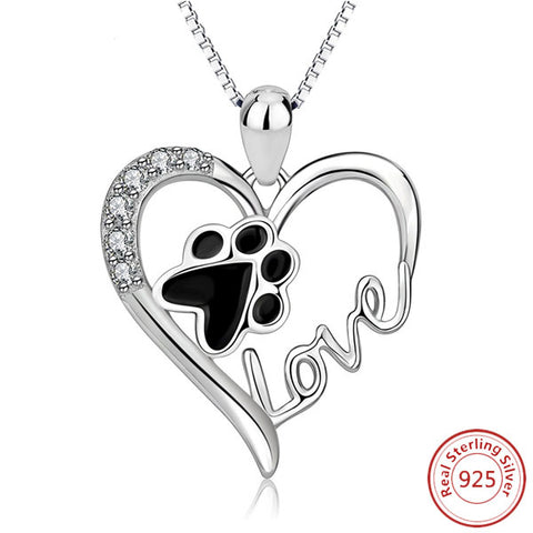 Puppy Love Sterling Silver Necklace