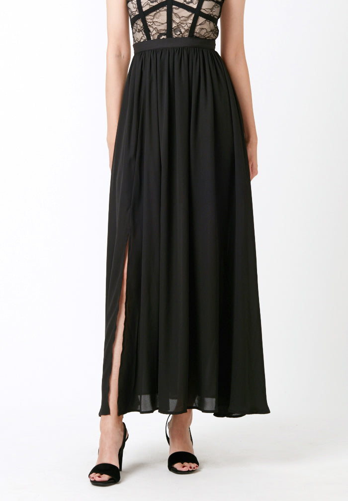 Floor Length Skirt (with Slit)