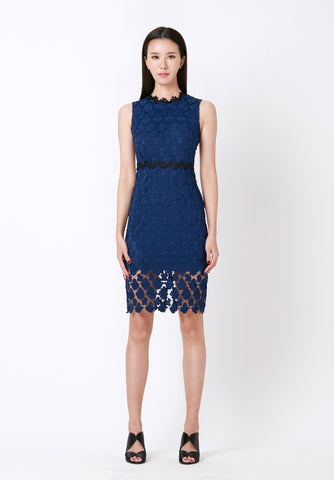 Dotted V-neck Dress