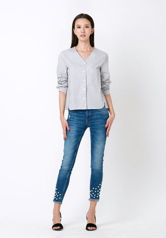 ROSIE ASYMMETRICAL LACE BLOUSE