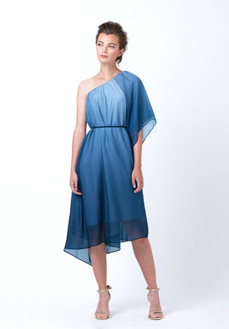 Tulip Colourblock Dress (with detachable collar)