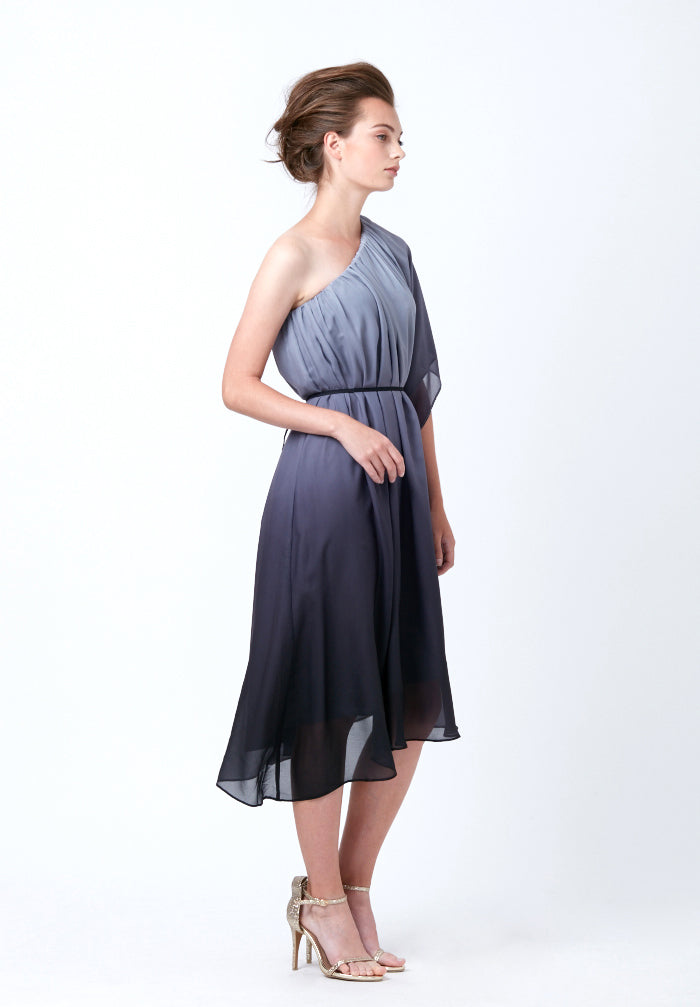Ombre Draped Dress