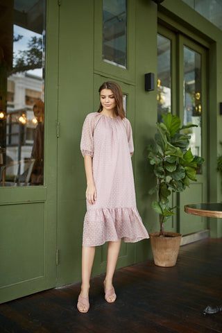 Flutter Sleeved Button Dress