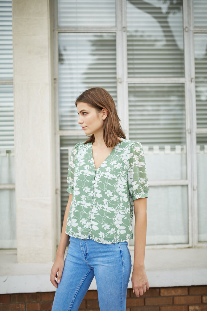 Sheer Foliage Top