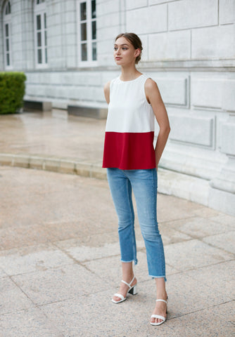 Tulle Pleated Top