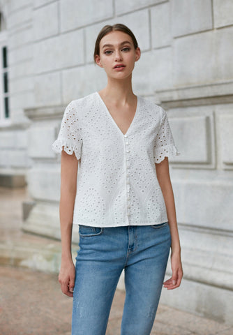 Garden Textured Blouse