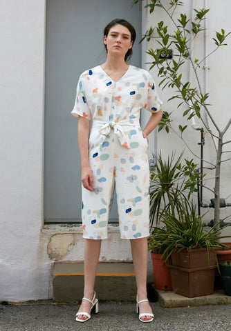 Overlap Buckled Jumpsuit