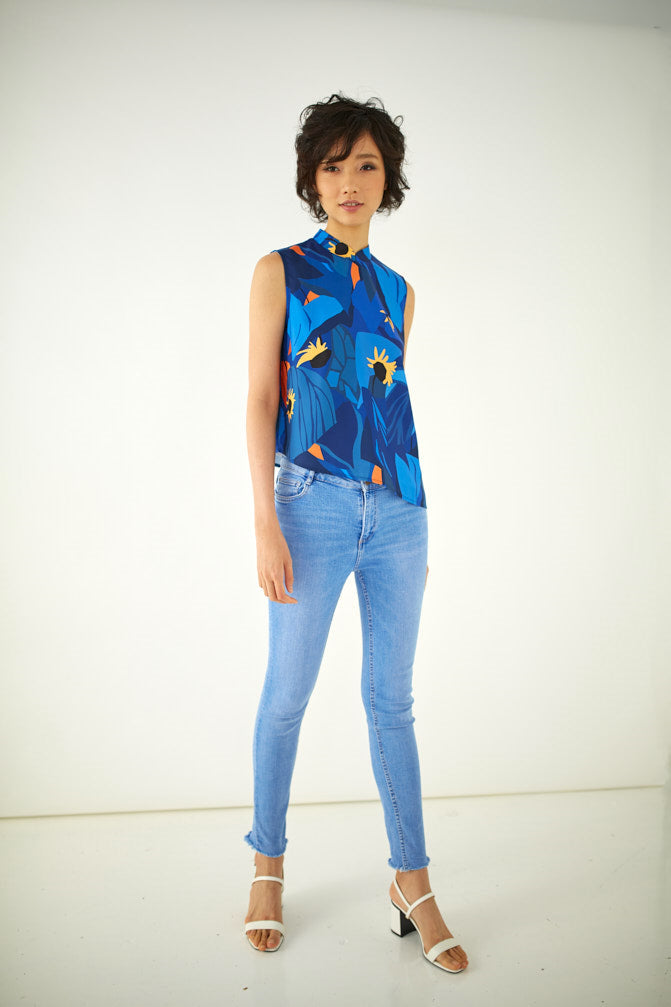 The Little Sunflowers Cheongsam Top