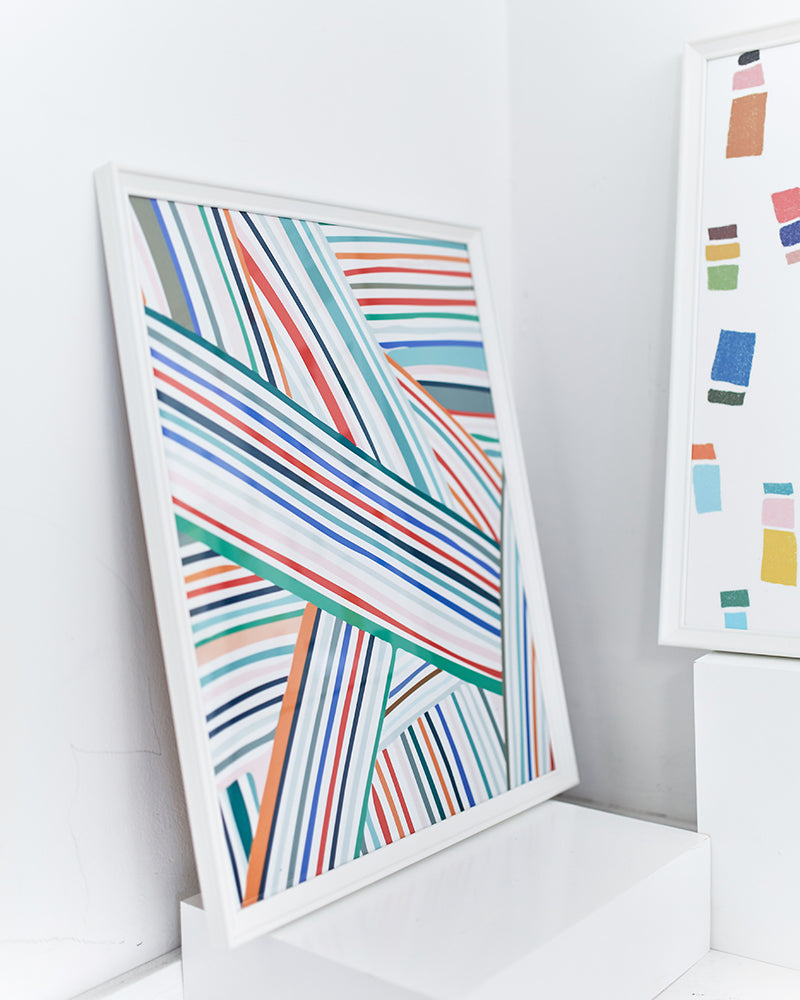 'Colour Tapes' Art Print