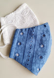 Indigo Eyelet Mask (Limited Edition)