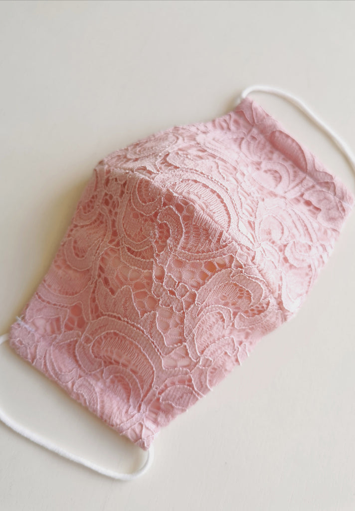Limited Edition Corded Lace Mask // Nude Pink