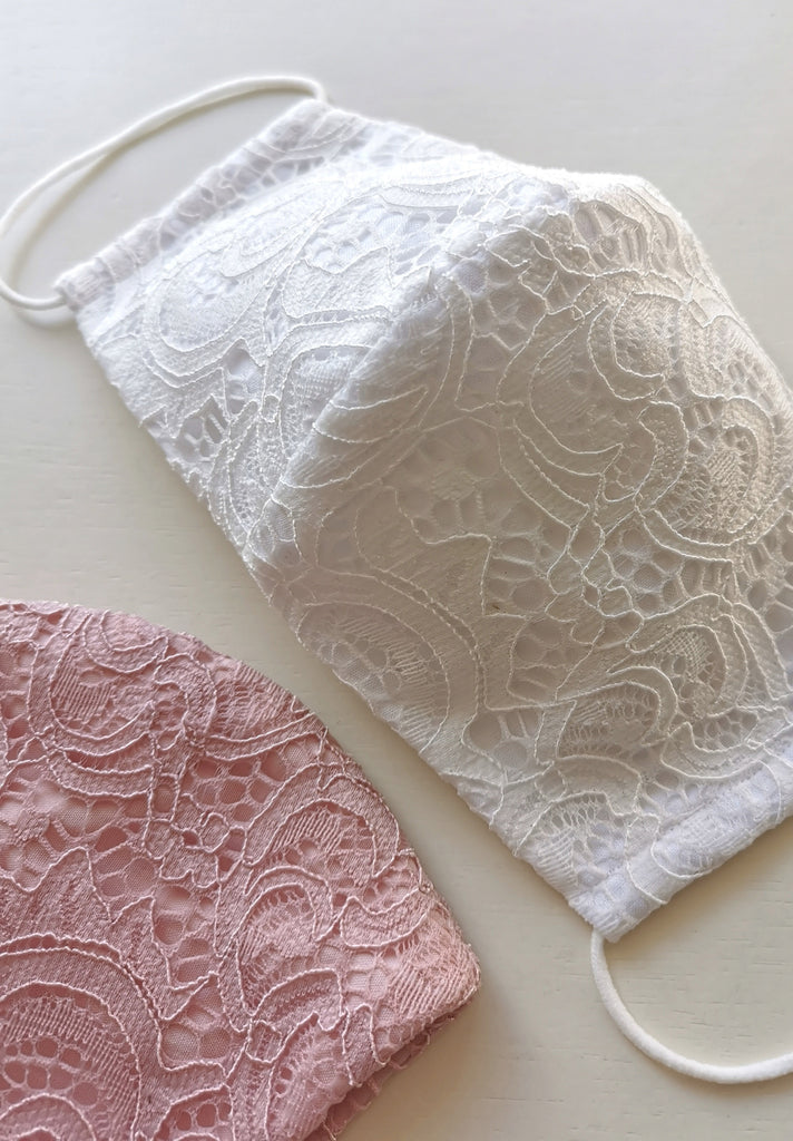 Limited Edition Corded Lace Mask // Daisy White