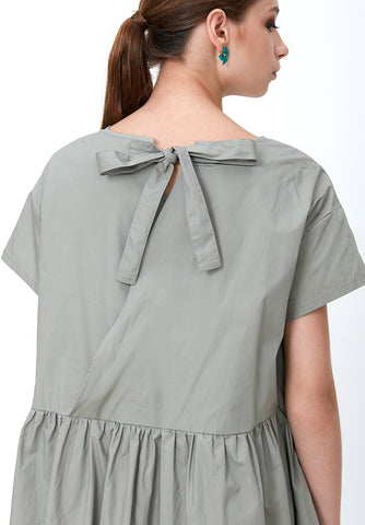 PRESSED PLEAT HIGH-LOW BLOUSE