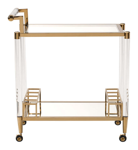 Existential Bar Cart Gold